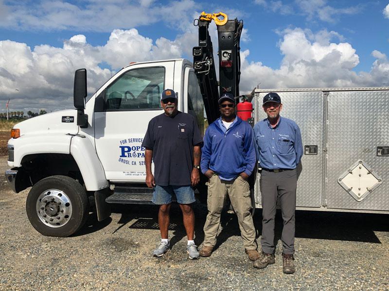 Repair truck and crew