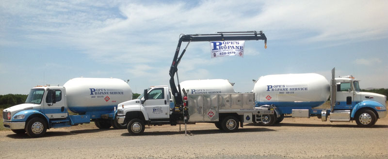 Propane delivery trucks