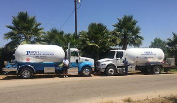 Propane trucks and drivers